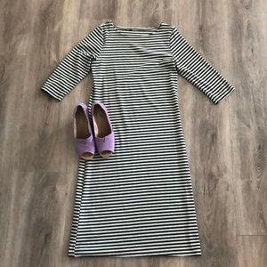 Boutique Gray stripe dress